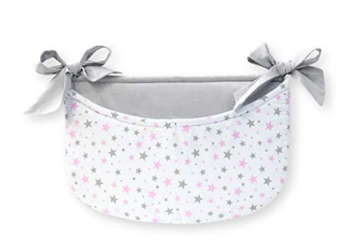Amilian® Betttasche Spielzeugtasche Babybetttasche Windelntasche Spielzeughalter für Babybett (Design48)