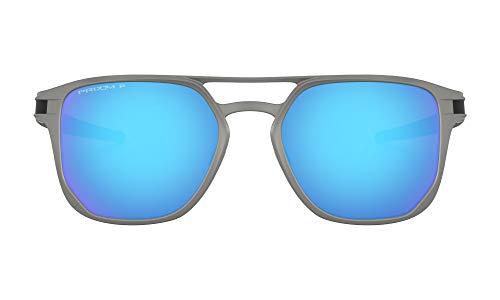 Oakley 0OO4128 Gafas de sol, Matte Light Gunmetal, 53 para Hombre