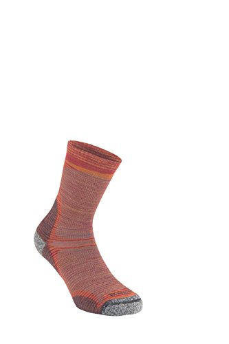 Bridgedale Herren Ultra Light Crew Merino Endurance Socken, Multi Orange, Größe L