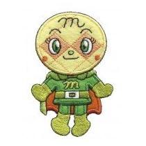 INAGAKI(稲垣服飾) アンパンマン アイロンでくっつく Bigワッペン全身タイプ メロンパンナちゃん ANX002 6枚セット 0329991