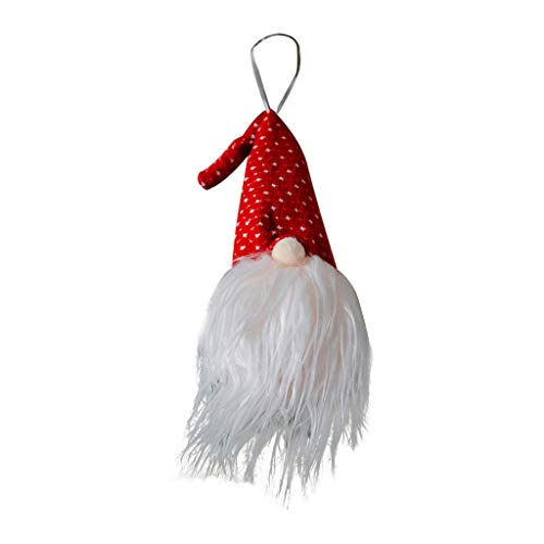 BYSport Christmas Tree Ornaments,Christmas Plush Ornaments Forest Old Man with Lights Pendant for Christmas Tree Decorations Home Decorations
