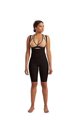 Marena Recovery Knee-Length Girdle, Step 2 (pull on), Black, S