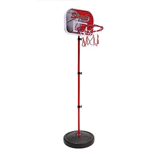 Jtoony Red de Baloncesto 55cm-150cm Mini Portable Ajustable del Soporte Interior del aro de Baloncesto Nets Bomba al Aire Libre Redes para Aros de Baloncesto (Color : Red, Size : One Size)