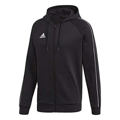 adidas Herren CORE18 FZ Hoody Sweatshirt, Black/White, L