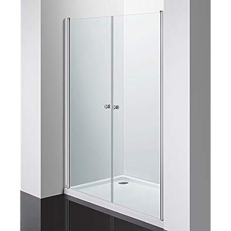 Profils argent satin/é Largeur 70 cm GRANISUD Porte cabine de douche en cristal transparent 6 mm NICCHIA Saloon Ouverture double porte battante 66 /– 71 cm