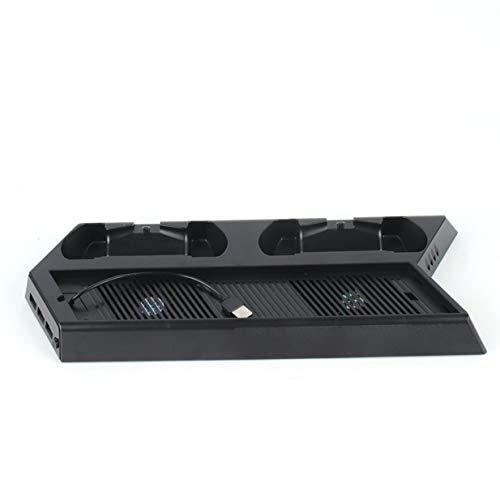 Sairis Soporte de refrigeración de Carga Consola PS4 y mandos de refrigeración con Soporte Vertical con Ventilador