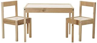 comprar comparacion Ikea LATT-Mesa Infantil con 2 sillas, Color Blanco, Pino, Beige, Table with 2 Chairs
