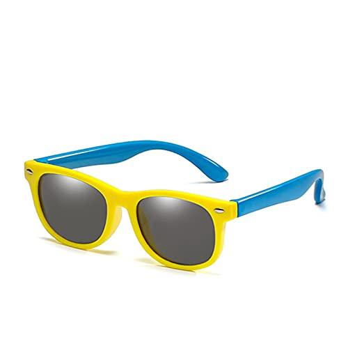 ASZX 18 Colores Nuevos Gafas de Sol polarizadas para niños, niños y niñas, Moda, Gafas de Sol, Gafas, Gafas UV400 polarizadas para niños. 709 (Lenses Color : 13, Size : One Size)