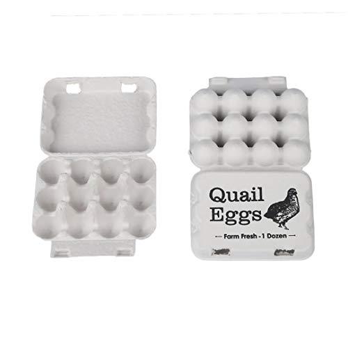 Farmssentials Design Quail Egg Cartons- Pack of 30 Quail Egg Cartons- Hold 12 Quail Eggs
