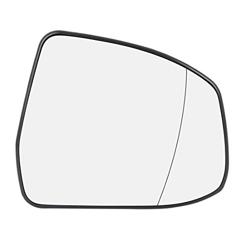 X AUTOHAUX Car Rearview Mirror Glass Passenger Right Side Heated with Backing Plate for Ford Focus 2008-2010