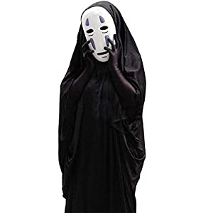 No Face Costume Spirited Away Kaonashi Anime Cosplay with Mask