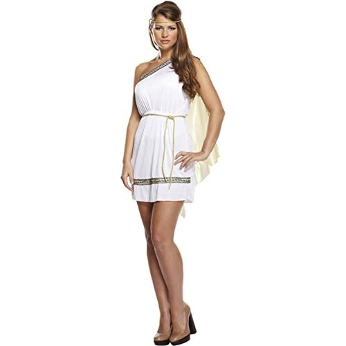 5089c7516 HENBRANDT Ladies Roman Goddess Ancient Greek Toga Fancy Dress Costume Outfit  U37158