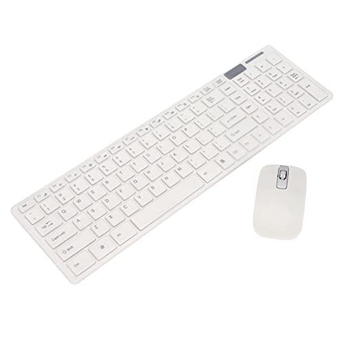 Juego de Teclado y Mouse inalámbricos, 2.4GHz, 1.02 Pulgadas para computadora portátil de Escritorio Smart TV PC Juegos de ergonomía de plástico ABS Mini Inteligente