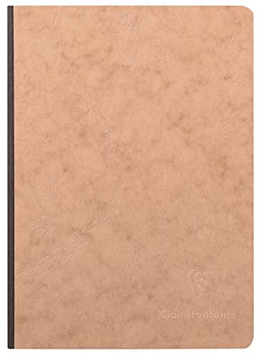 Clairefontaine 79542C Agebag - Cuaderno interior cuadricula, 192 páginas, color marrón, 148 x 210 mm