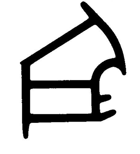 5m-Stahlzargendichtung Türdichtung WZ 1177 in Braun, Grau, Weiss Farbe Weiss