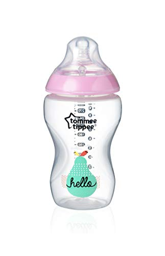 Tommee Tippee Biberón Closer to Nature, 340 ml, rosa, 1 Unidad, Rosa
