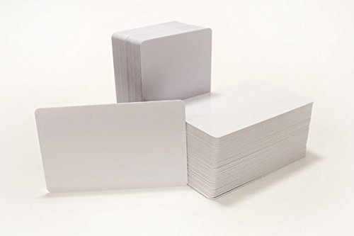 250 CR80 30Mil Blank White PVC Plastic Credit, Gift, Photo ID Cards