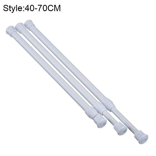 Curtain Track Curtain Rail Pole Rod Telescopische Tension Carbon Steel Extendable - Shower Bathtub Curtain Poles Shower Curtain Poles Track Android Micro Accessory Polo Shirt Fish Telescoop Slide 40-70 cm.