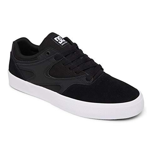 DC Shoes Herren Kalis Vulc Skateboardschuhe, Black White, 43 EU