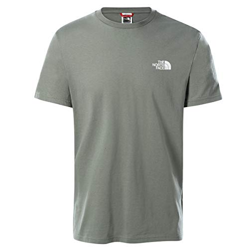 The North Face Men's S/S Simple Dome Tee T-Shirt, AG. Green, L Uomo