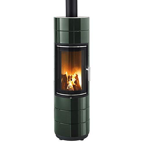 LEDA Guss-Kaminofen Peppa (4 kW) Dunkelgrün emailliert (glänzend)