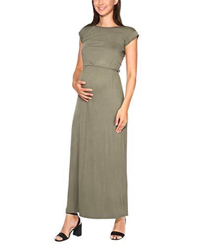 KRISP Vestido Mujer Tallas Grandes Largo Barato Casual Ibicenco De Día Ropa Hippie Online Ofertas, (Caqui (3269), 36 EU (08 UK)), 3269-KHA-08