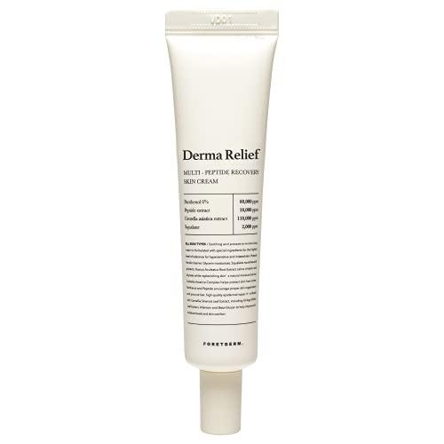 FORETDERM Derma Relief EGF Peptide Cream 40ml, Repair Cream, Unscented, Unpigmented, Regeneration Cream After Laser Treatment In Dermatology