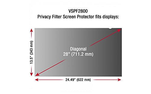 ViewSonic Accessory VSPF2800 28inch Privacy Filter Screen Protector 16:9 Retail