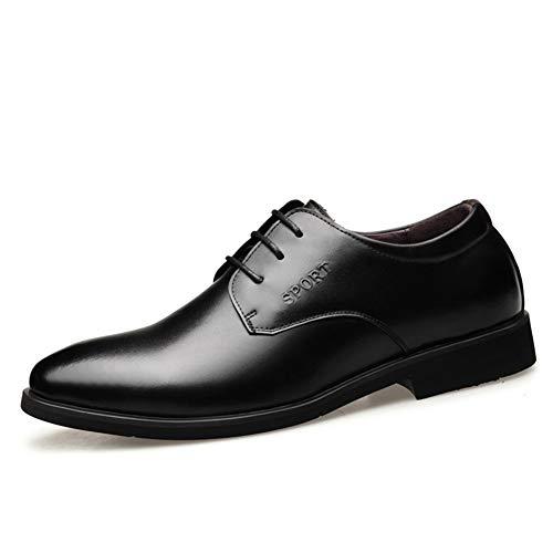 Heren Jurk Schoenen Mannen Business Oxford Voor Formele Schoenen Lace Up Stijl Echt Leer Ronde teen Blok Hakken Kussen Zolen PU Gevoerd Duurzame Schoenen Duurzame oxford schoenen