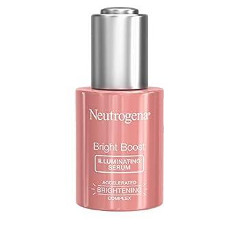 Neutrogena Bright Boost Illuminating Face Serum with Neoglucosamine & Turmeric Extract for Even Skin Tone Resurfacing Serum for Face to Reduce Dark Spots & Hyperpigmentation 1 Fl Oz