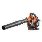 Shop Husqvarna 125BVx 28-cu cm 2-cycle 170-MPH 470-CFM Heavy-Duty Handheld Gas Leaf Blower with Vacuum Kit at Lowes.com