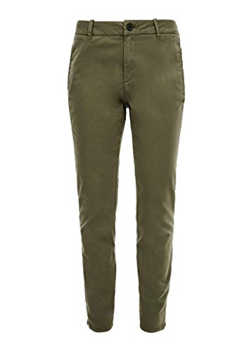 s.Oliver Damen Slim Fit: Slim Ankle Leg-Chino khaki 38