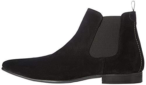 find. Albany Herren, Chelsea Boots, Schwarz (Black Suede), 40 EU