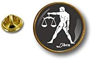 Akacha Spilla Pin pin's Spille spilletta Badge Segno Zodiacale astrologia Bilancia