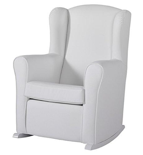 Micuna 8431830129661 - Butaca orejera con tapizado de polipiel, color blanco