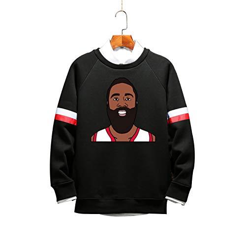 DDOYY Harden # 13 Rockets - Sudadera de baloncesto con cuello redondo, color negro 2-XXS