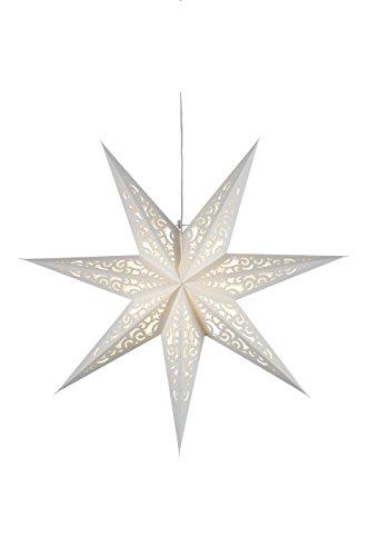 "'Star 501–22, estrella de papel""Lace, 7puntas, papel, color blanco, 1.2x 4.4x 4.4cm"