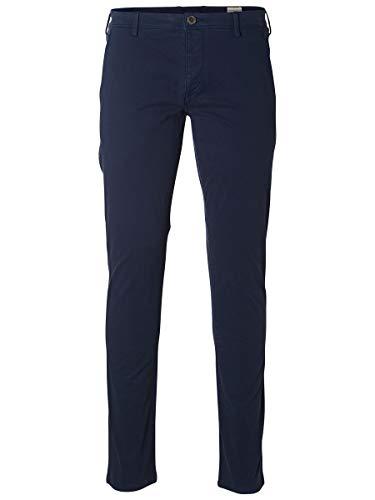 SELECTED HOMME Herren Shhoneluca St Pants Noos Hose, Navy Blazer, 28W 32L EU