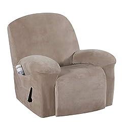 top 10 recliner slipcovers H.VERSAILTEX Real Velvet Sofa Cover Sofa Cover Stylish and modern velvet plush toy …