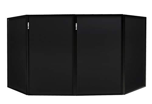 Vonyx DB2B Inklapbare en Mobiele DJ Booth zwart - 280 x 120cm
