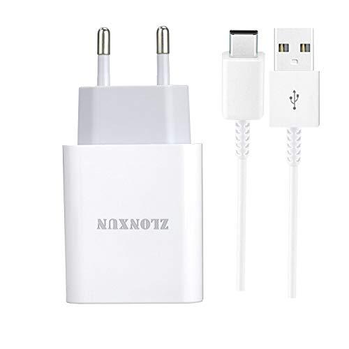 ZLONXUN Cargador rapido con Cable USB-C para Huawei Mate 20 Lite/P30 Lite/Nova 5T/P20 Lite/20/10/9, Huawei P30/P40/P30 Pro/P10/P9, Huawei Honor 20/View 20/9X/G9