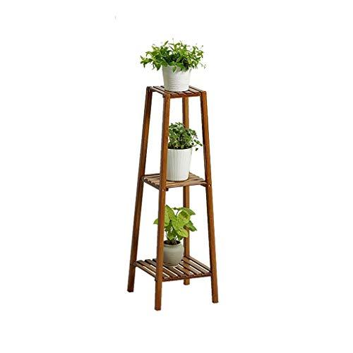 AMYZ Soporte de exhibición de Plantas de Madera de bambú,Estante de Almacenamiento para macetas,Estante de exhibición,Soporte de jardín,Escalera,Exterior/Interior (tamaño:100 cm