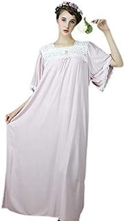 Beauenty Cotton Princess Style Plus-size Nightgown Women For Pajam-pajamas sleepwear