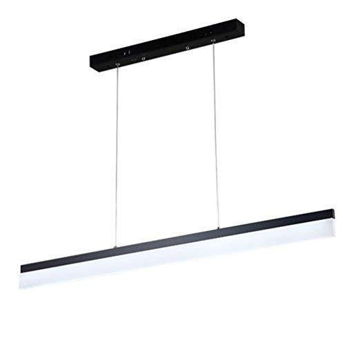 Modern LED Office Pendant Lamp Matt Black Hanging Metal Acrylic Shade 120cm Long Thickness 1.3cm LED Lamp Dining Table Hanging Lamp H u0026 H Adjustable Pendant Lamp 24W, White Light