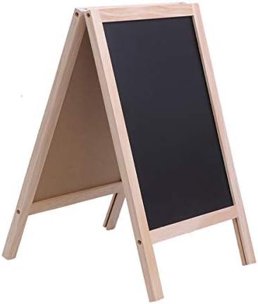 GEZONDHEID Houten Ingelijste Krijtbord Dubbele Zijkant Krijtbord Tafel Bericht Bord voor DIY Home Decoratie 25x40cm
