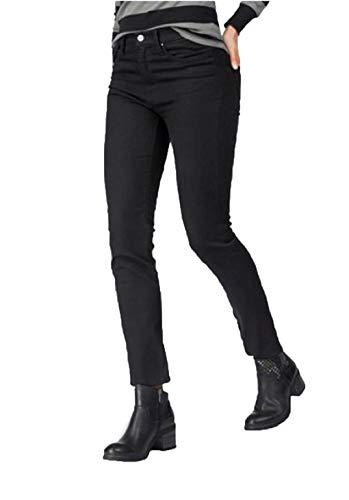 Replay Hose stylische Damen Jeans in Leichter Used-Waschung New Jodey 5-Pocket-Hose Denim Schwarz, Größe:W27/L30