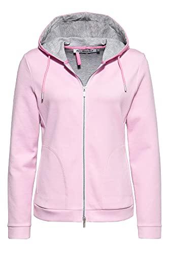 ATT Jeans Sudadera para mujer con capucha, corte estándar. Rosa. 46
