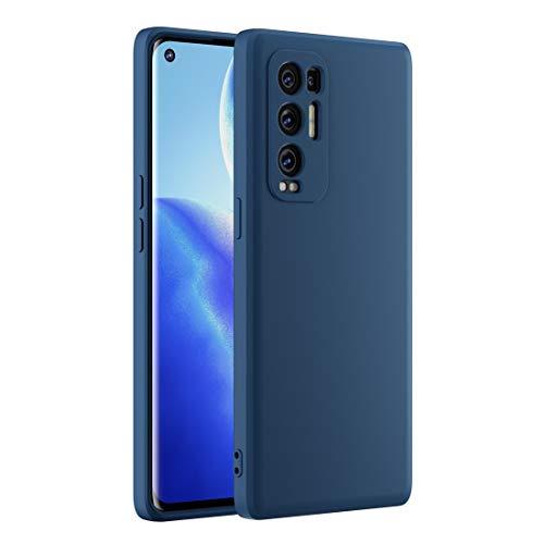 Cresee kompatibel mit Oppo Find X3 Neo 5G Hülle Hülle, Silikon Handyhülle mit [Kamera Schutz] [Faser-Innenraum] Anti-Scratch Dünn Schutzhülle Stoßfest Cover für Find X3 Neo, Blau