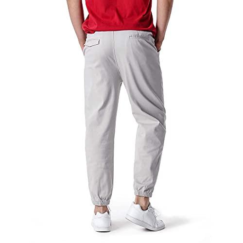 2021 nouveaux pantalons de sport pour hommes, personnalité, confortable, léger, pantalon de jogging pour hommes de couleur unie, pantalon de sport extensible