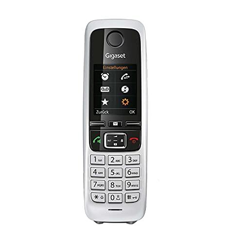 Gigaset C430HX - DECT-Handy schnurlos für Router - Fritzbox, Speedport kompatibel - 1,8 Zoll Farbdisplay - Mobilteil mit Ladeschale, Schwarz-Silber